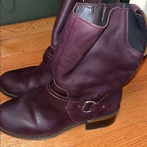Vince Camuto leather motto boots